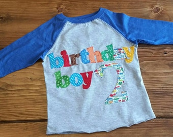 Birthday Boy Outfit, Car Theme Birthday, Boy Birthday Shirt, 2nd Birthday Shirt Boys, Birthday Shirt, 3rd Birthday Tee, Made to Order Shirt