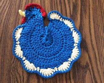 Crochet Chicken/Rooster Hotpad Kitchen Decoration