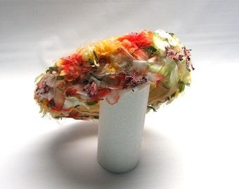 Vintage Springtime Floral Hat