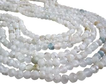 Aquamarine Beads, Aquamarine, Natural Aquamarine Beads, Faceted Round, March Birthstone, SKU 2743A