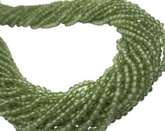 Peridot Beads, Round Peridot, August Birthstone, 2mm Round, SKU 4542A