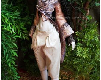 ABJD Lilycat Cerisedolls Ellena size silver silk Dhoti style Pants