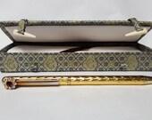 Vintage Oriental Presentation Box With Gold Ink Pen