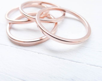 Copper Stacking Rings Thin Size 6 for Soldering or Hammered Look Jewelry Making Ring Blank 1.6mm (RHCU406)