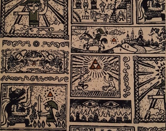 Cotton fabric Nintendo Legend of Zelda Link Character Fabric Story Of The Hero Time Legend 1/2 yard Fun Fabric for Creative Genius Projects