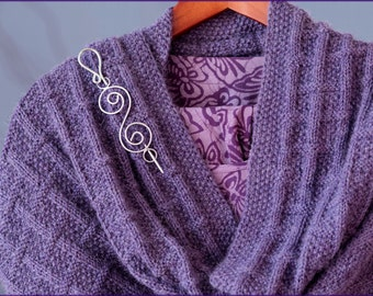 Scottswood Stole - Knitting pattern -  Ladies shawl/wrap in baby alpaca yarn - Reversible design - Instant Download
