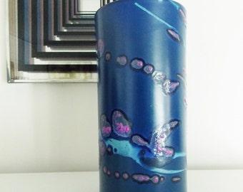 Danish modern Knabstrup ceramic vase/ vintage 1970s Denmark studio pottery/ mid century vase