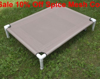 Large Dog Bed Clearance SALE, 10 Percent Off, Spice Mesh Outdoor Medium Dog Bed, Raised Cot Bed, Mesh Pet Dog Cot 4 Sizes To Choose From