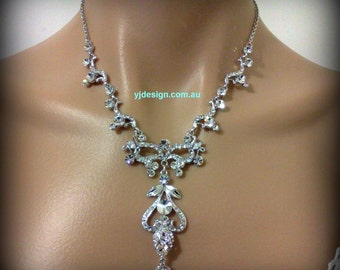 Statement Bridal Necklace, Art Nouveau Necklace, Victorian Wedding Jewelry, NOVA