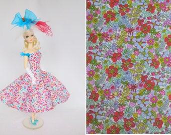 OOAK Silkstone Barbie Outfit Fashion Dress Hat - 'Flower Tops'