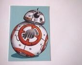 BB-8 Droid - Star Wars - Postcard