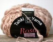 Tahki Yarns Rosa . latte 04 . 93yd 85m . bulky chunky thick and thin spun cotton slub yarn . navajo white fleshtone . discount yarn