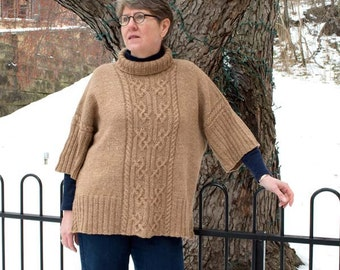 Camborne Pullover Knitting Pattern - PDF