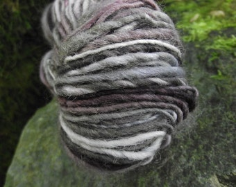 Handspun, handpainted wool and mohair yarn, multiple skeins available-Heathcliff
