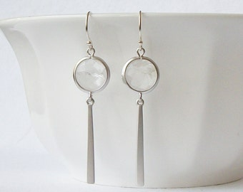 Clear Crystal Mod Drop Earrings