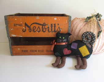 Nesbitt's Orange Soda Wood Crate Rustic Vintage Storage Fall Harvest Color