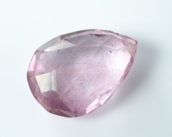Pear Faceted Pink Quartz