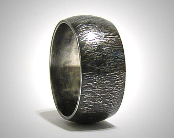Rustic Hammered Wedding Band Engagement Ring Promise Ring Stainless Steel Wedding Ring Mens Steel Ring Mens Wedding Ring Rustic Ring
