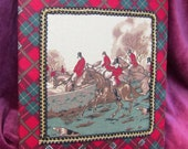 Foxhunting 3-Ring Fabric Covered Binder Red/Green Plaid Fabric