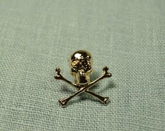 Gold Pirate Skull