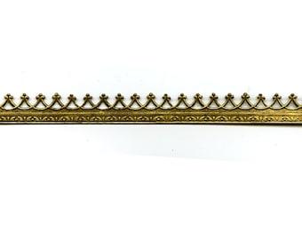 "6"" Brass Banding - Small Brass Metal Strip Gallery Wire"