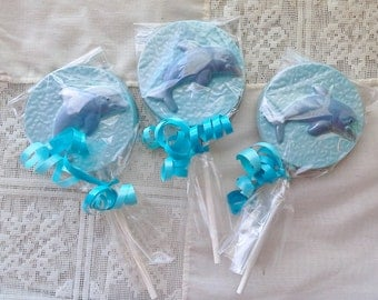 Chocolate Dolphin lollipops or favors