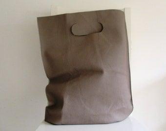 Taupe Leather Handbag