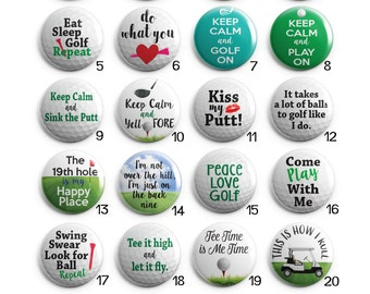 Humorous Golf Sayings Interchangeable Magnetic Pendant Toppers or Refrigerator Magnets - Choose One or More