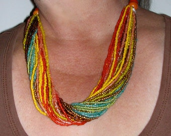 Repaired Multi Strand Necklace