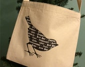Bird Silhouette Totetote bag/tote/bag/canvas tote bag/canvas bag/purse/messenger bag/bird bag/bags and purses/messenger tote/