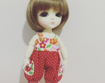 Sunny Flora and dots dots pattern cutie overall for Lati Yellow or Pukifee