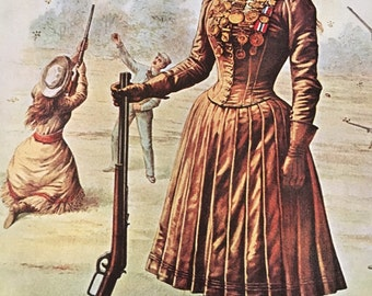 1966 Illustration Of Annie Oakley