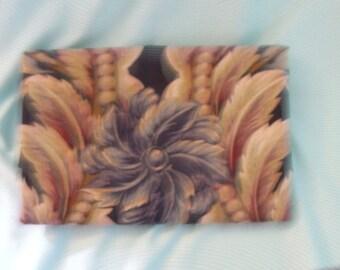 "Fabric Destash Portfolio ""Odessey"" Giant Traditional Print Navy 35"" X 54"