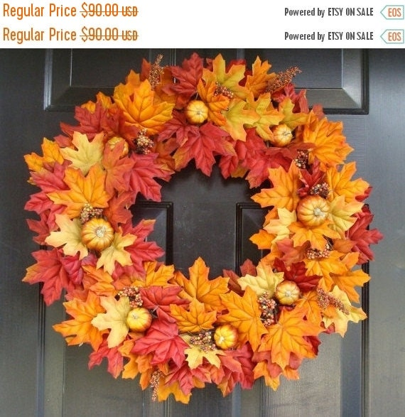 Wreath Sale Thanksgiving Fall Wreath Pumpkin Pie By