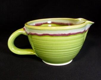 Handmade Mixing Bowl - Gravy Boat Ceramic - Prep Bowl - Ceramic Batter Bowl - Kitchen Prep Bowl - Whisk Bowl - Cake Batter Bowl - In Stock