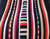 Hmong Textile, Lisu Fabric, black, hmong fabric, white, lisu tape, crafting, hill tribe, quilted, stripe, craft, fabric, stripe, quilt
