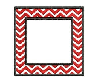 SALE 65% off Chevron Square Frame Monogram Font Machine Embroidery Designs Instant Download 4x4 and 5x7