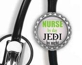 ON SALE - JEDI Nurse Stethoscope Id Tag - Nursing Student, Gifts for Nurses, Student Nurse Gift, Graduation Gift, Stethoscope Accessories