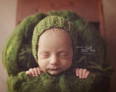 Newborn Knit Wool Textured Bonnet Photo Prop Made to Order