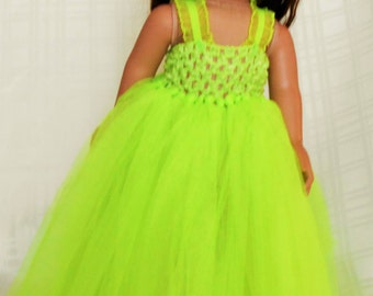 """Fits 18"""" doll/American Girl/Journey Girl/My Life - Gown, Party Dress, Fancy Dress, Tulle, Prom Dress - Free Shipping"""