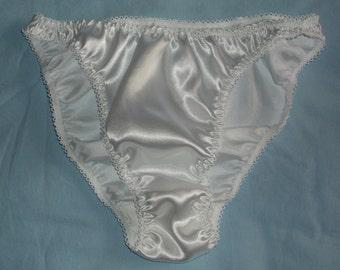 White Satin Panties in UK sizes 8 - 20