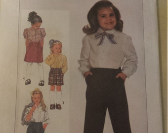 Mc Calls 7061 Vintage Pattern Girls  Pants in Three Lenths and Skirt Uncut Pattern Size 4