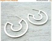 Sale 20% OFF Agnes Post Earrings, geometric studs, Scandinavian design