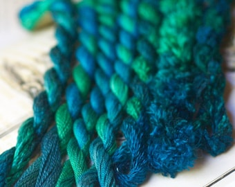Hand Dyed Silk Embroidery Threads for Needlecraft, Canvas Work and Hoop Embroidery.