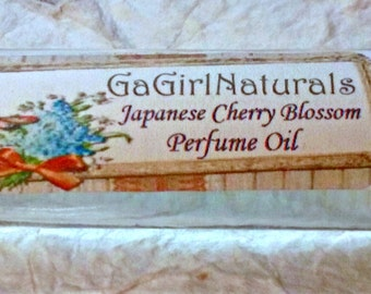 NEW Japanese Cherry Blossom Perfume, Natural Perfume, Perfume Roll On