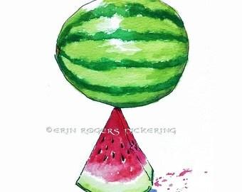 Watermelon Kitchen Art Print 11x14