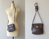 Coach mini shoulder bag | brown leather cross body bag | vintage brown Coach purse