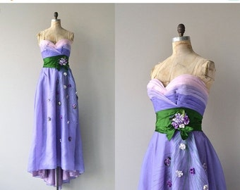 25% OFF.... Philip Hulitar gown   vintage 1940s dress   strapless 40s formal dress