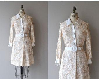 25% OFF SALE Daydream Believer dress   vintage 1960s dress   Samuel Grossman 60s lace mini dress