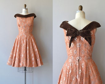 Lyrae dress | vintage 1950s dress | metallic 50s party dress